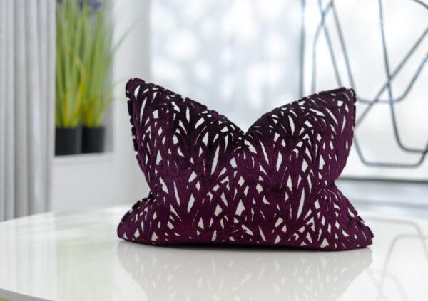 purple and cream plush Velvet textured covers