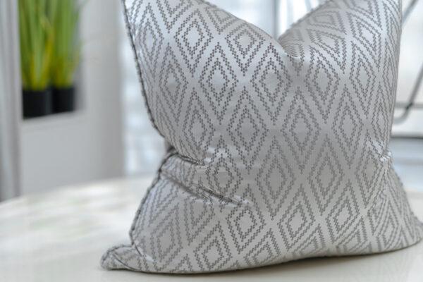Platinum Geometric Patterned Jacquard   Grey & Dove Grey