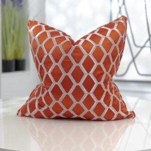 orange & champagne patterned jacquard
