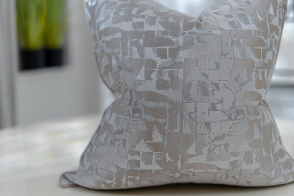 Neutral Taupe & cream Modern Patterned Jacquard